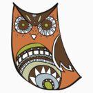 Deco Owl - brown tones by Hyululu