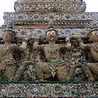 soldiers at Wat Arun - Temple of Dawn by Ren Provo