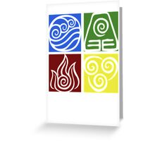 Four Elements - Simple Greeting Card