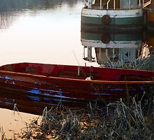 Lonely boat at rest. Graiguenamagh Kilkenny Ireland by GinasFineArt