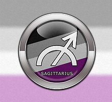 Sagittarius - Asexual Pride  by LiveLoudGraphic