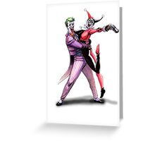 Joker & Quinn in bad love Greeting Card
