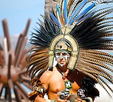 mexican head dress by richard  webb