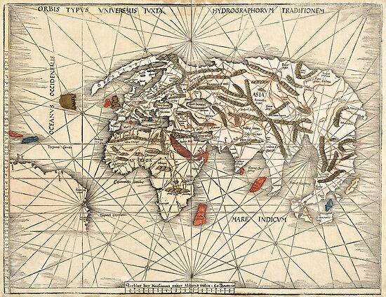 1513 World map by Martin Waldseemüller by paulrommer
