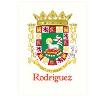 Rodriguez Shield of Puerto Rico Art Print