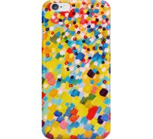 SWEPT AWAY 2 - Vibrant Colorful Rainbow Mango Yellow Waves Mermaid Splash Abstract Acrylic Painting iPhone Case/Skin