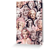 Marilyn Monroe Collage Greeting Card