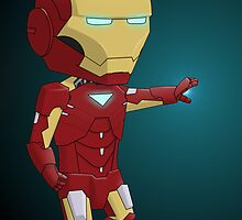 Chibi Iron Man by eliriv
