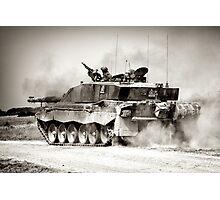 """Heavy Armour""- Challenger 2 Main BattleTank (MBT) British Army Photographic Print"