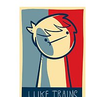 """Ipod touch  capsule case """"I like trains"""" by Supsnow"""