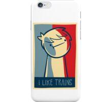 "Ipod touch  capsule case ""I like trains"" iPhone Case/Skin"