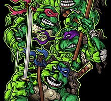 Teenaged Mutant Ninja Turtles by cs3ink