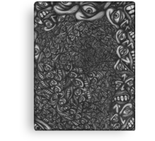 Facepage 04 - Psychedelic faces  Canvas Print