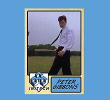 Peter Gibbons Baseball Card by Paul Simms