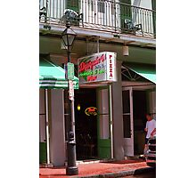 New Orleans - Pizza and Beer Photographic Print