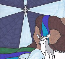 Tarot - The Star - Unicorn by chrisondra