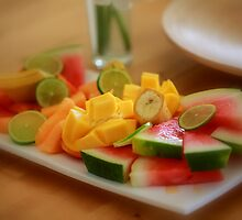 Fruit platter by Trisha Mita