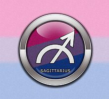 Sagittarius - Bisexual Pride  by LiveLoudGraphic
