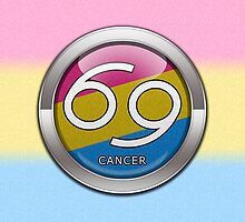 Cancer - Pansexual Pride  by LiveLoudGraphic
