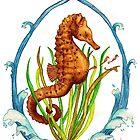 Watercolor Pencil Seahorse by Kaitlee Venable