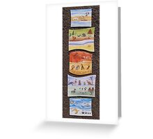 Puzzle Painting Animals from Earth Greeting Card