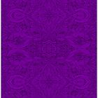 Dark Flower full purple edition -  iPad cases by rootsofriot