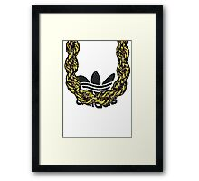Old School Gold Rope Chain and classic logo 1 Framed Print