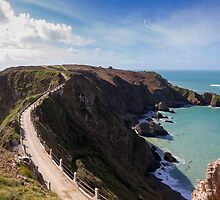 La Coupee on Sark channel islands by chris2766