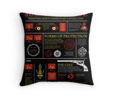 The Hunters Survival Guide Throw Pillow
