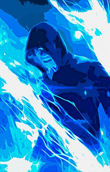 Amazing Spider-man 2 Electro Painting by Colin Bradley