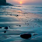 Amroth Beach - Spring Sunrise by Simon West