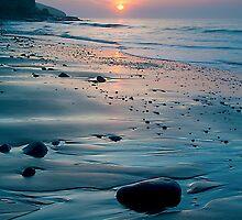 Amroth Beach - Spring Sunrise by Simon West