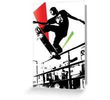 Skateboard Grind Greeting Card