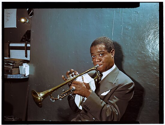 Louis Armstrong, 1946 by Dana Keller