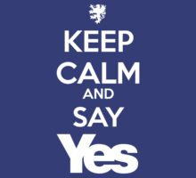 KEEP CALM AND SAY YES by steviecomyn