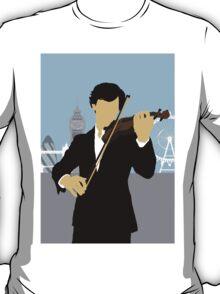 Minimalist Sherlock Violin Piece T-Shirt