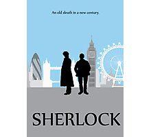 Minimalist Sherlock Work Photographic Print