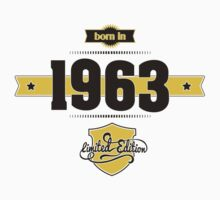 Born in 1963 (Choco&Yellow) Kids Clothes