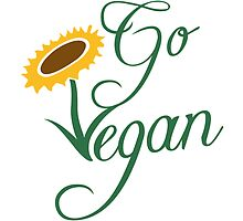 Go vegan sunflower logo by Style-O-Mat
