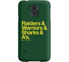 Loyal to the Bay - Oakland (Goldenrod Print) Samsung Galaxy Case/Skin