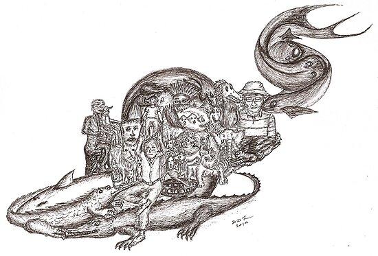 Sketch Inspired by Piranesi by David Fraser