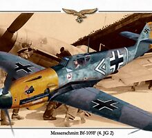 "Messerschmitt Bf-109E 1 - Major Hans ""Assi"" Hahn by A. Hermann"