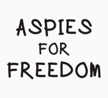 "Mary and Max ""ASPIES FOR FREEDOM"" t-shirt by kmorris-b"