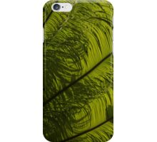 Tropical Green Curves and Diagonals - a Vertical View iPhone Case/Skin