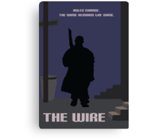 The Wire minimalist work Canvas Print