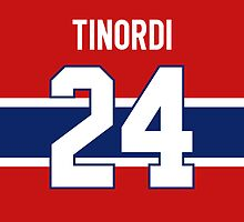 Montreal Canadiens Jarred Tinordi Jersey Back Phone Case by Russ Jericho