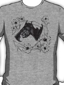 Bat in Apple Tree Ladies T-Shirt by HNTM T-Shirt