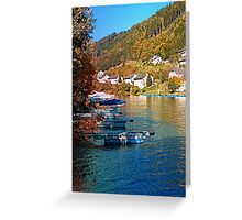 Boats in the harbour | waterscape photography Greeting Card