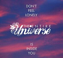 Universe - Rumi Wisdom quote 1 by dollmadeinjapan