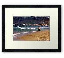 Seaside Stroll Framed Print